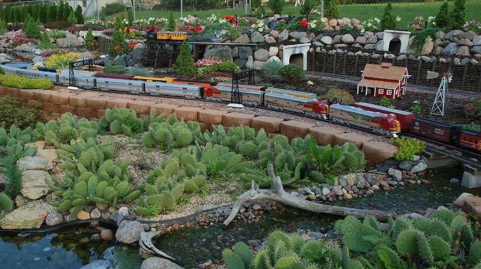 The Railroad Crossing Garden Railroad